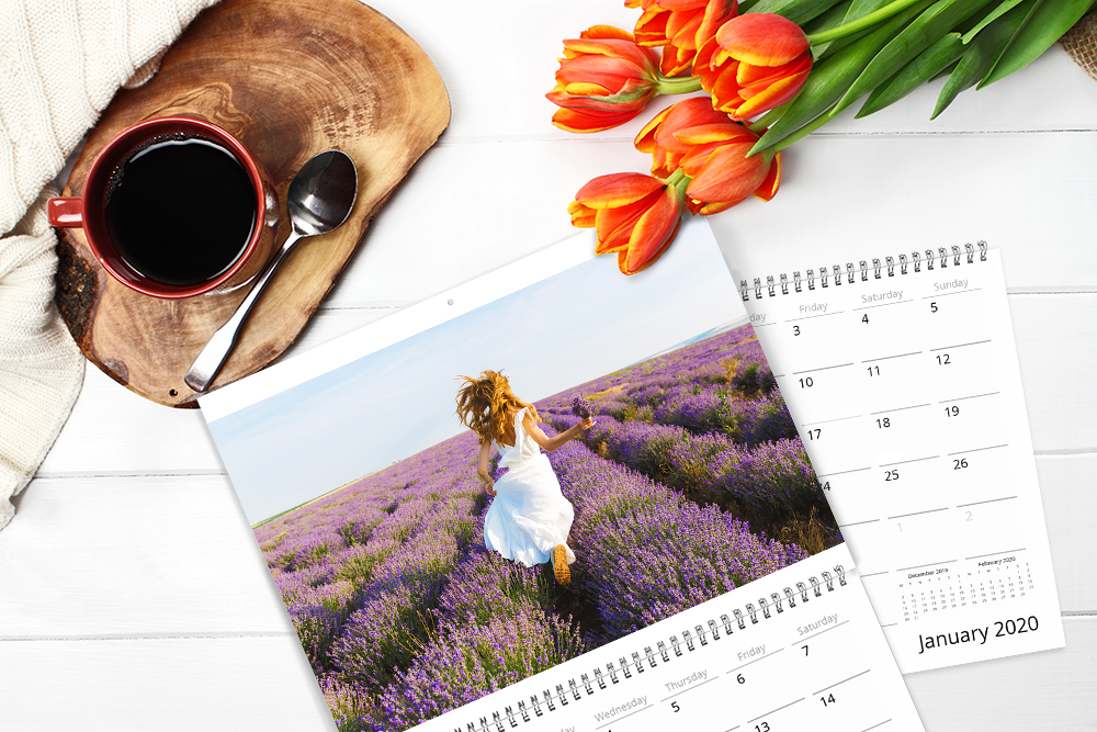 Create a 12 to 24 month photo calendar