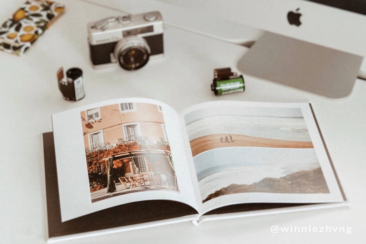 Use Mimeo Photos layout tool to create custom book pagesl iike @winniezhvng