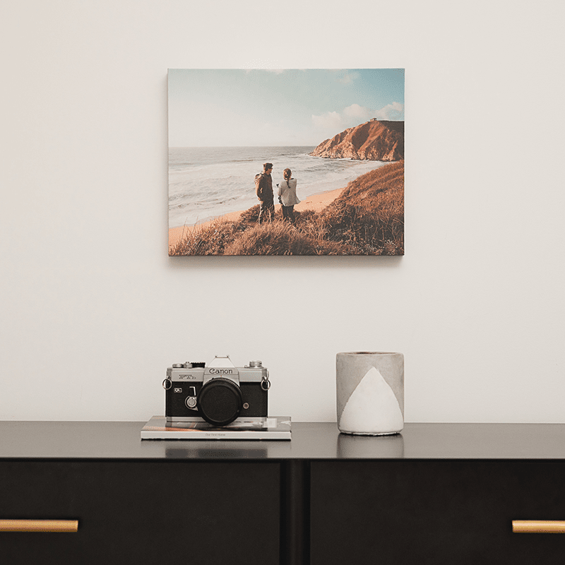 Refresh your home decor with personalized canvas wall photo display