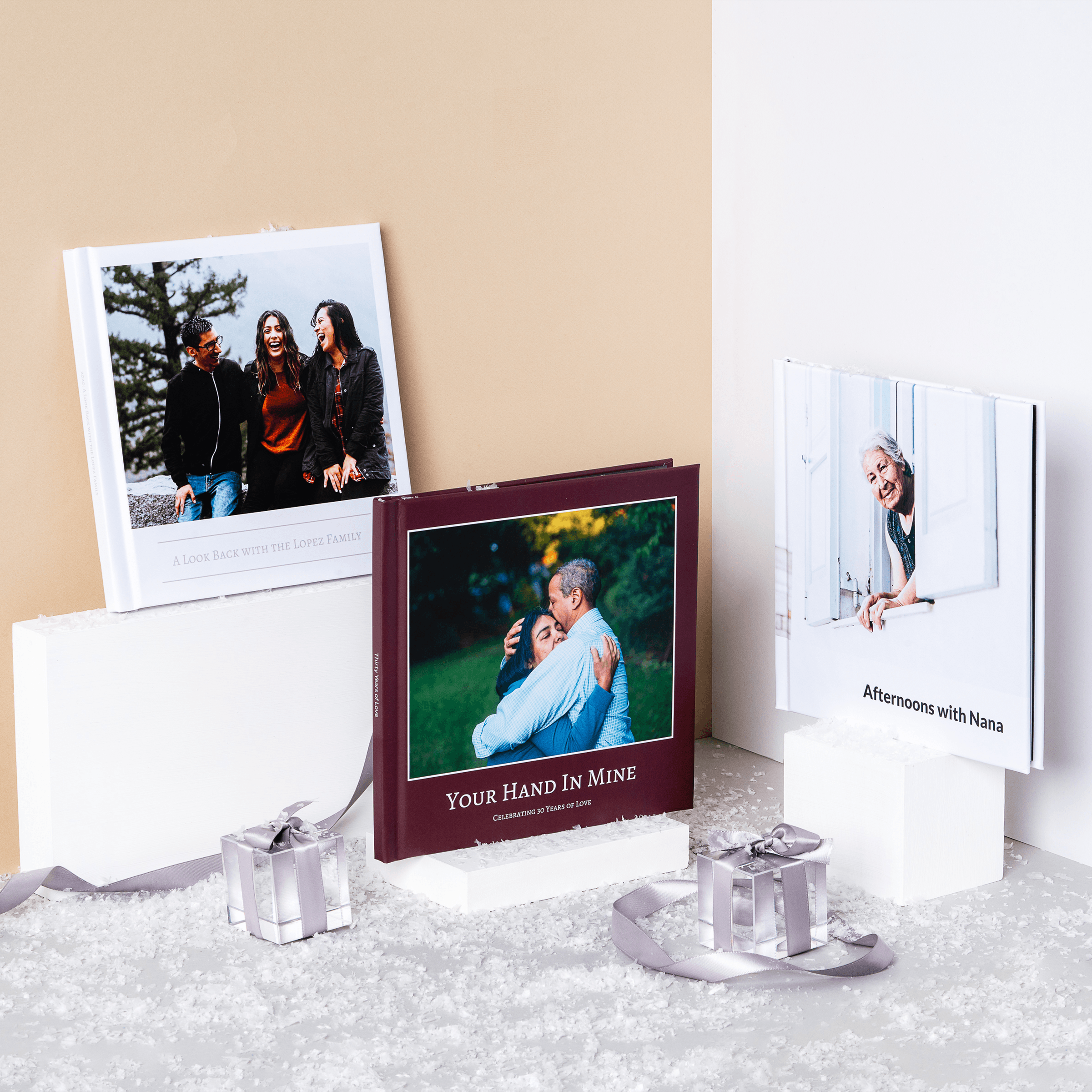 Photo albums and picture books make perfect gifts for grandparents