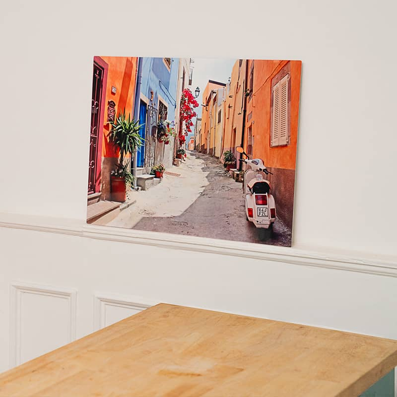 Order a completely custom metal photo print in large formats ready to mount to your home's walls