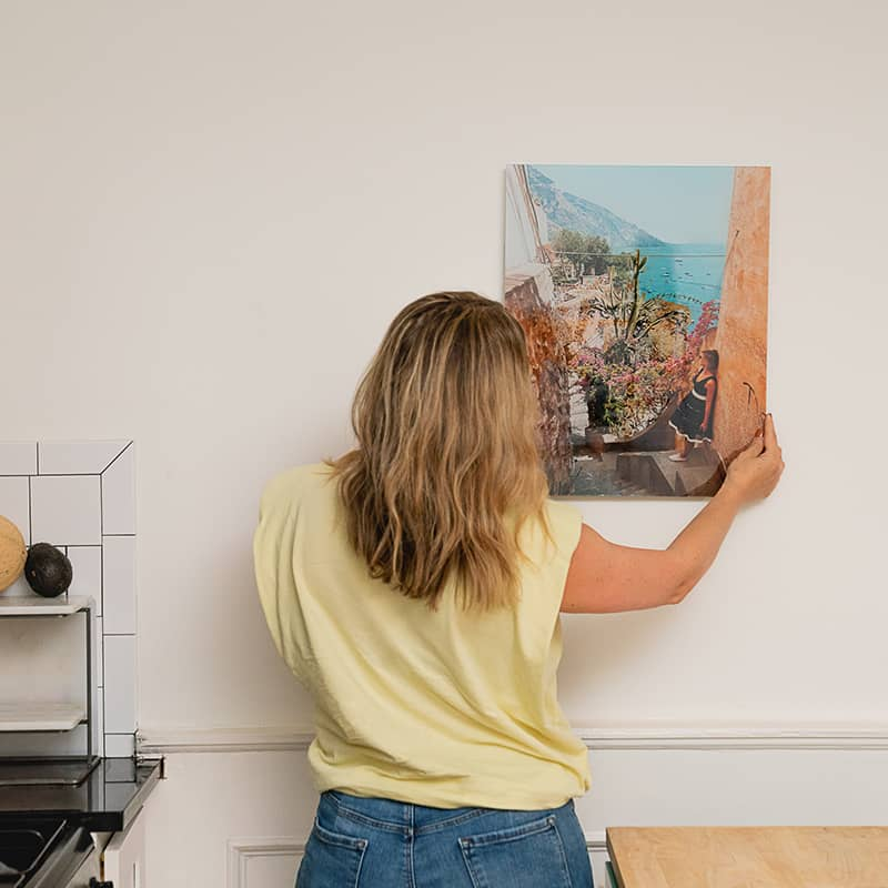 Create a fully personalized acrylic photo wall decor piece for gallery grade at home display