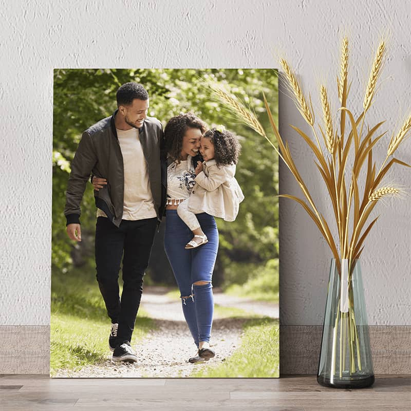 Order a photo canvas easel ready to display on any tabletop surface