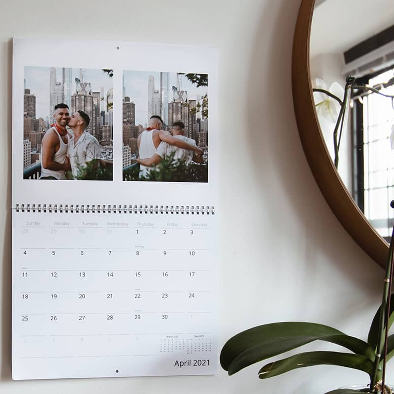 Order a personalized photo wall calendar online for 2021 and beyond