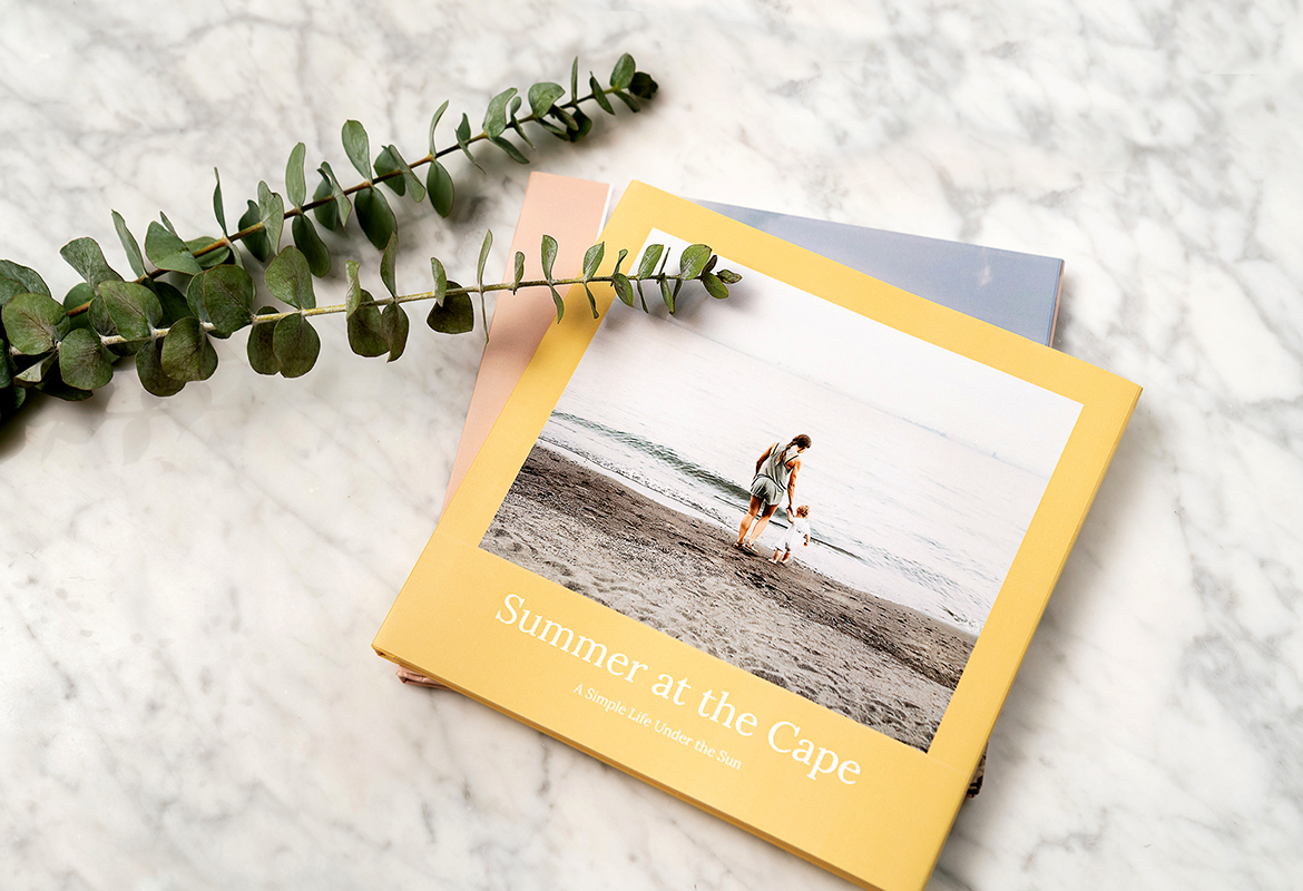 Build your own home library with a collection of custom photo books