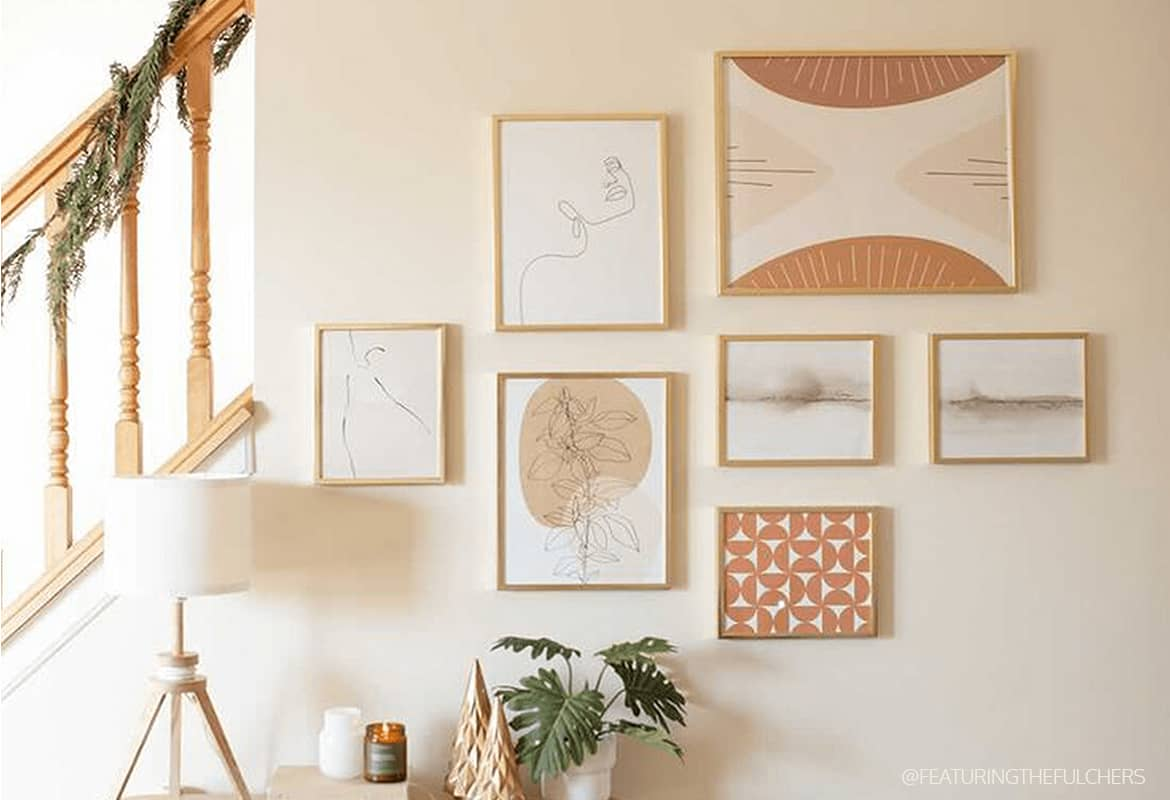 Try these 9 wall decor ideas with your own photos or original artwork