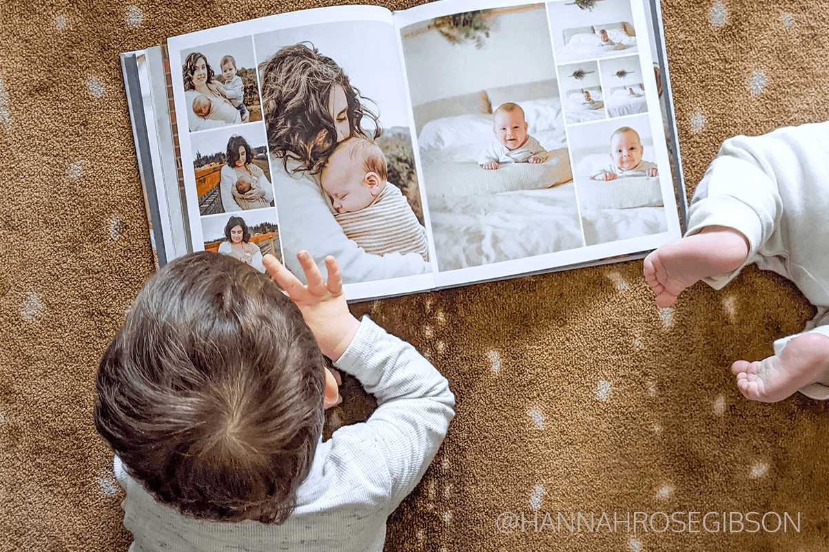Use Mimeo Photos layout tool to create custom book pages like @hannahrosegibson