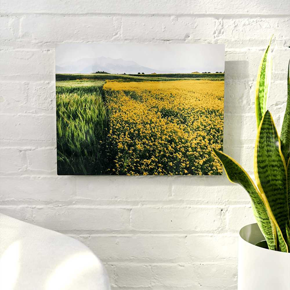 Order a personalized photo metal wall decor item