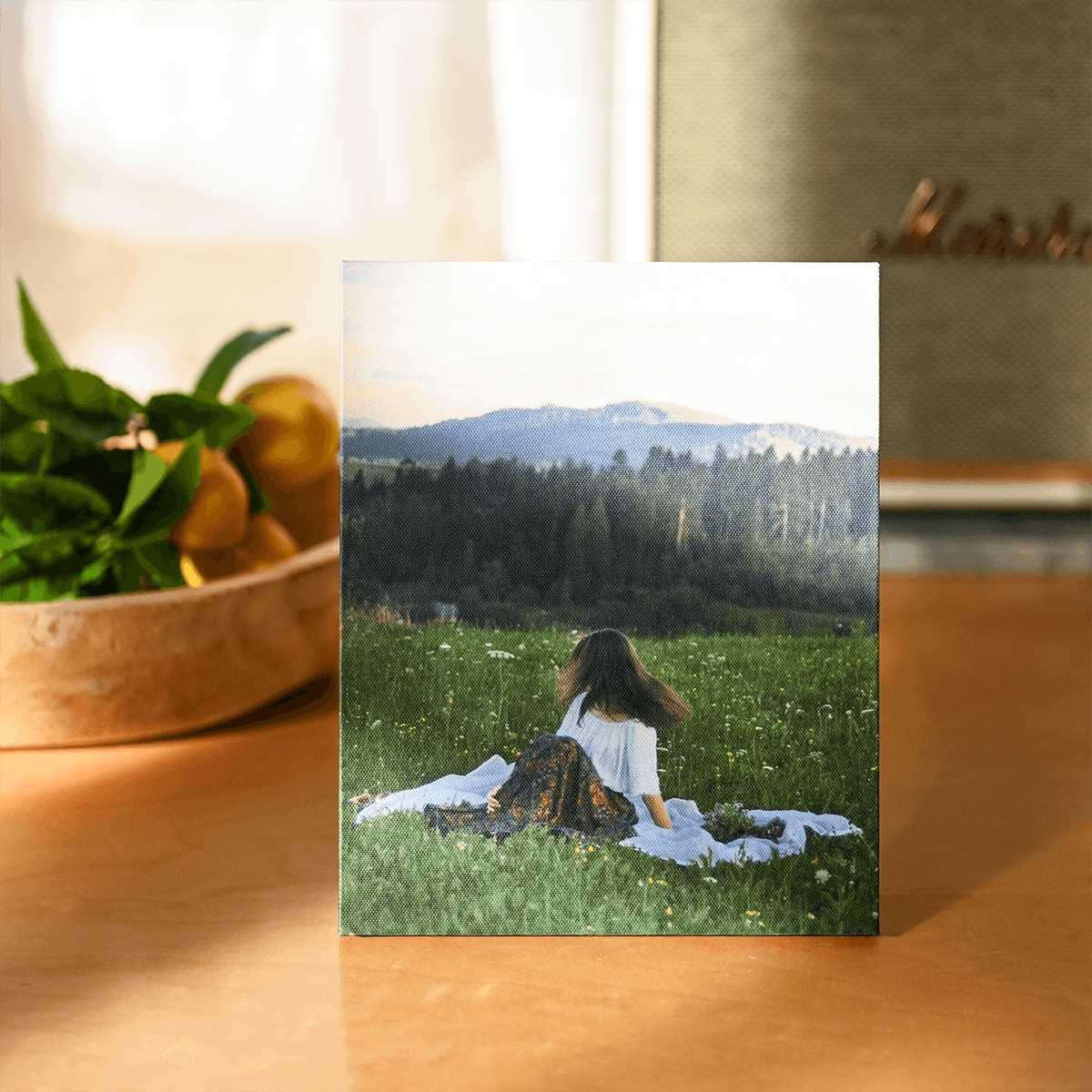 Print your own photos on gallery stretched canvas