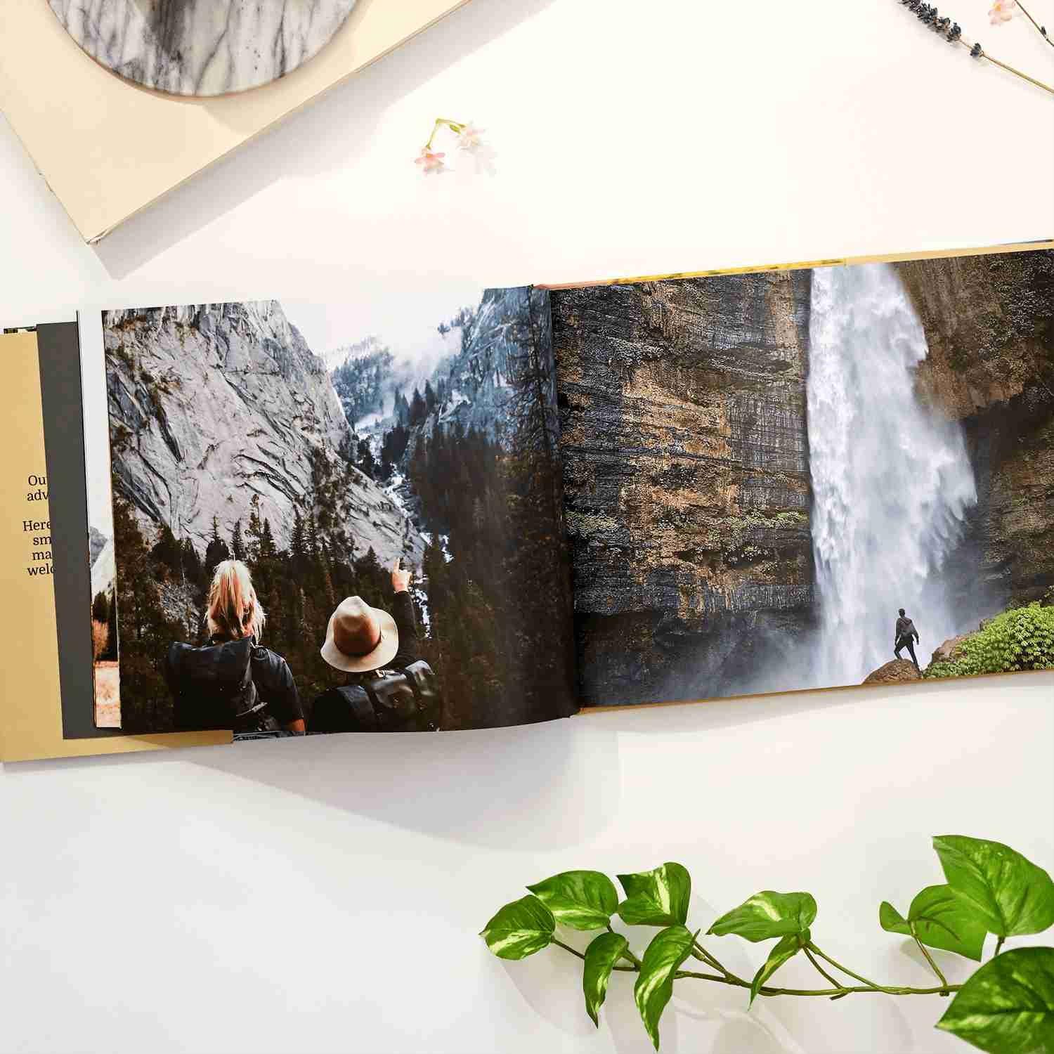 Personalize a hardcover photobook using your own images and photos