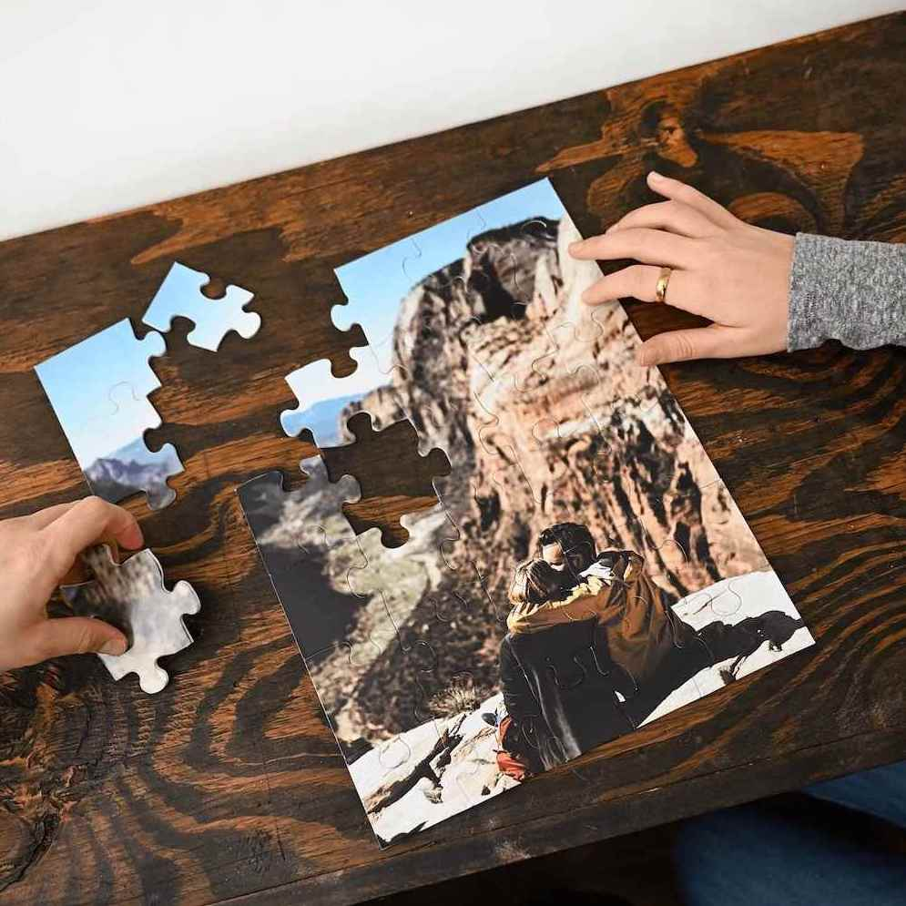 Create a personalized puzzle with your own images and photos