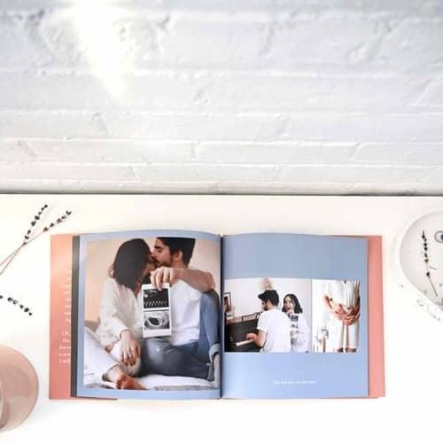 Create custom hardcover photobooks like @dshawvaccariello on Instagram