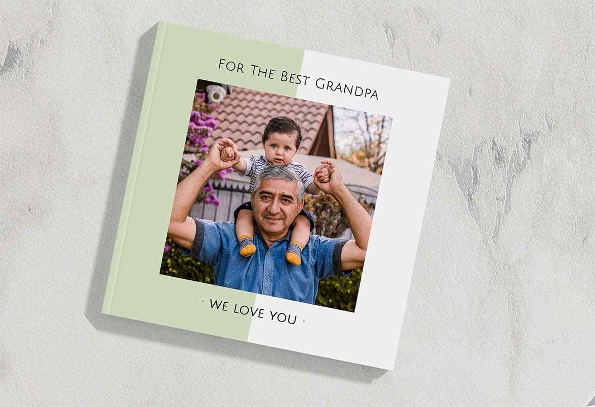 Create a custom hardcover or softcover photobook for Father's Day with Mimeo Photos