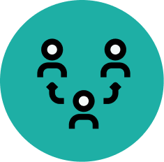 resource people and execution icon