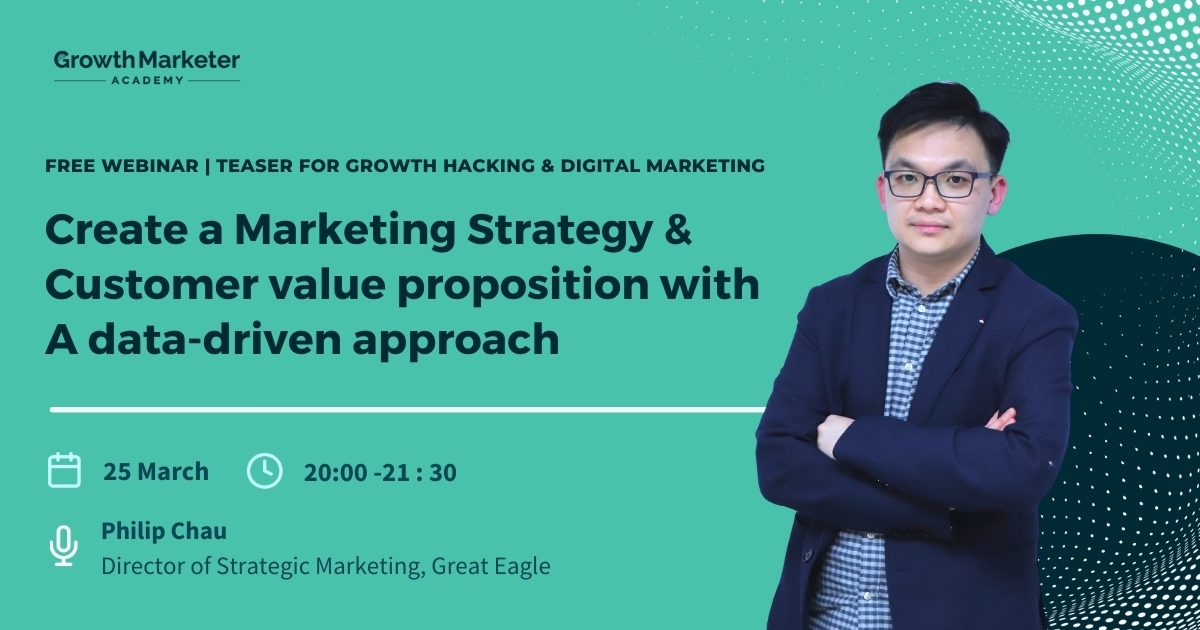 Create a marketing strategy & customer value proposition with a data-driven approach