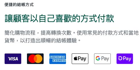網店平台 Shopify 付款方式