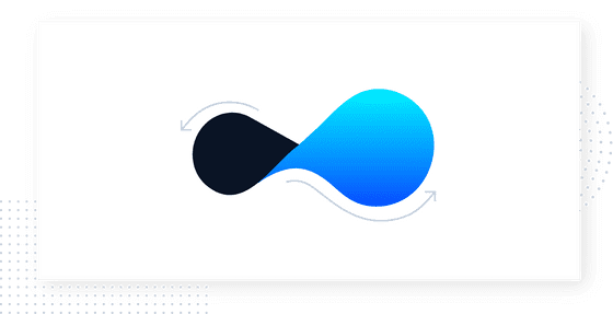This is an image illustrating adaptability and flexibility. It is an abstract visualization of a flexible attitude. It shows a sideways figure 8 with blue and black gradients. From the Product-Led Growth Collective.
