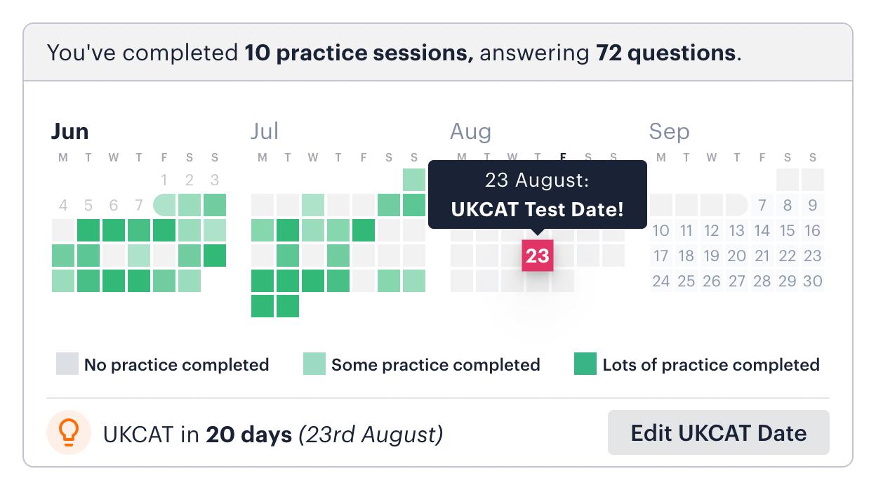 UCAT activity calendar