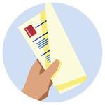 A hand holding a UCAT score report