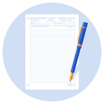 A blank personal statement and a pen
