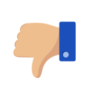 "Thumbs down ""dislike"" image"