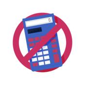 No calculator sign