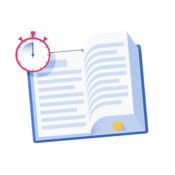 A stopwatch on top of a book