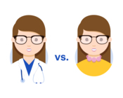 A doctor versus a medical student.
