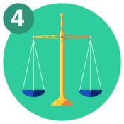 #4 A balance scale.