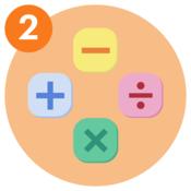 #2 Plus, minus, multiplication and division symbols