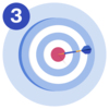 #3 A target with a dart in the bullseye.