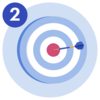 #2 A target with a dart in the bullseye.