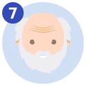 #7 Face of an elderly person.