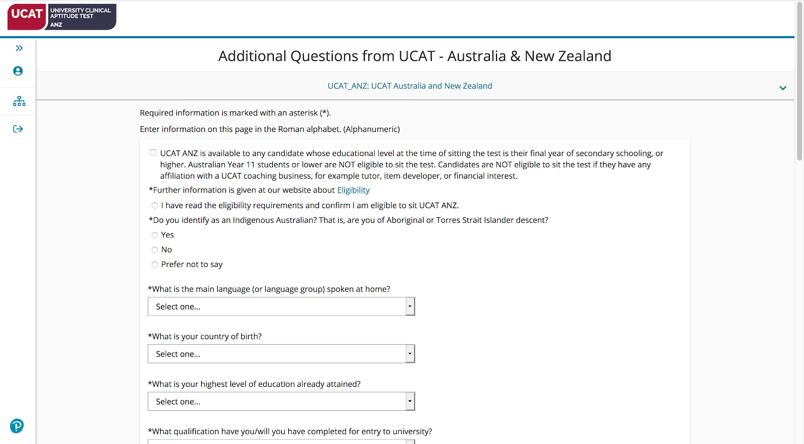 A screenshot that shows additional questions from UCAT ANZ.