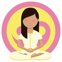 A woman meditating: Don't burn out yourself preparing for the UCAT ANZ