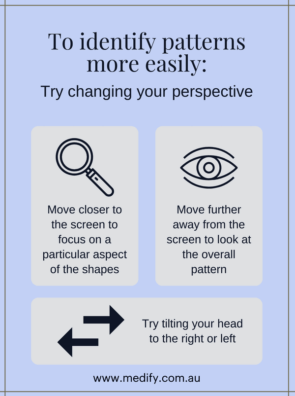 Change your perspective to identify patterns more easily in the UCAT ANZ AR section