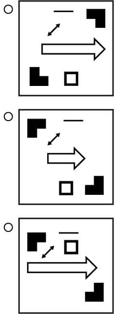 UCAT Abstract Reasoning (AR) Sequences question example matches.