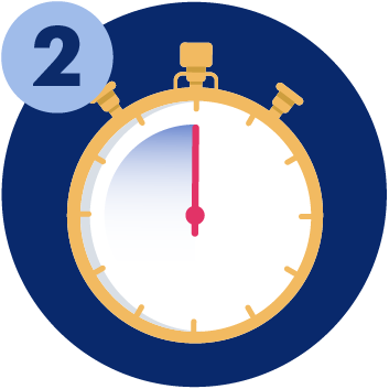 A stopwatch: UCAT ANZ 2021 booking opened on Monday 2nd March 2021