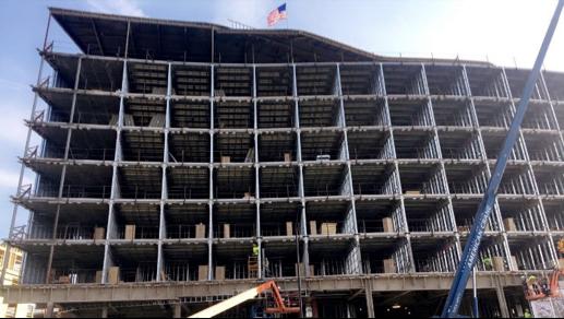The AC Marriott in Dublin under construction