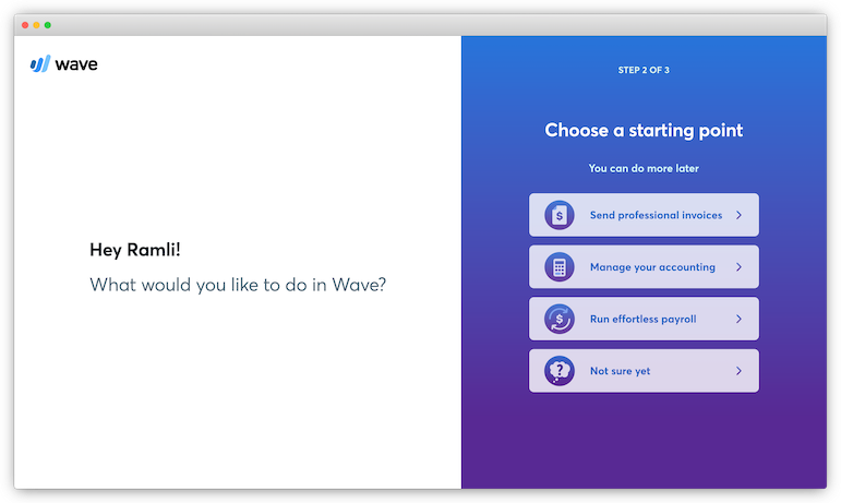 wave user onboarding experience