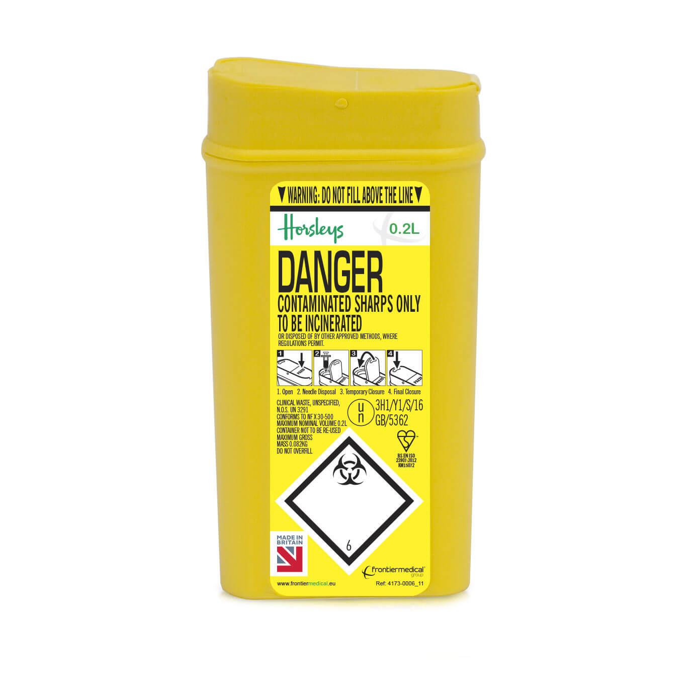 HOR1040 - 0.2L Needle Safe Bin