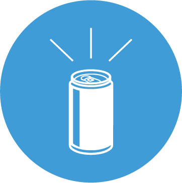 An icon of a Quivr Can in a blue circle.