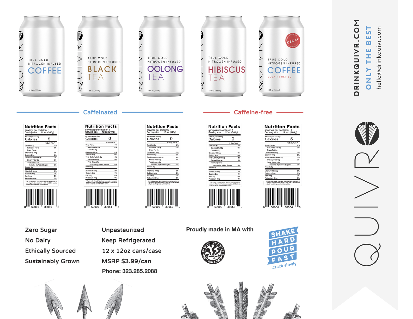 A one page information sheet about Quivr products.