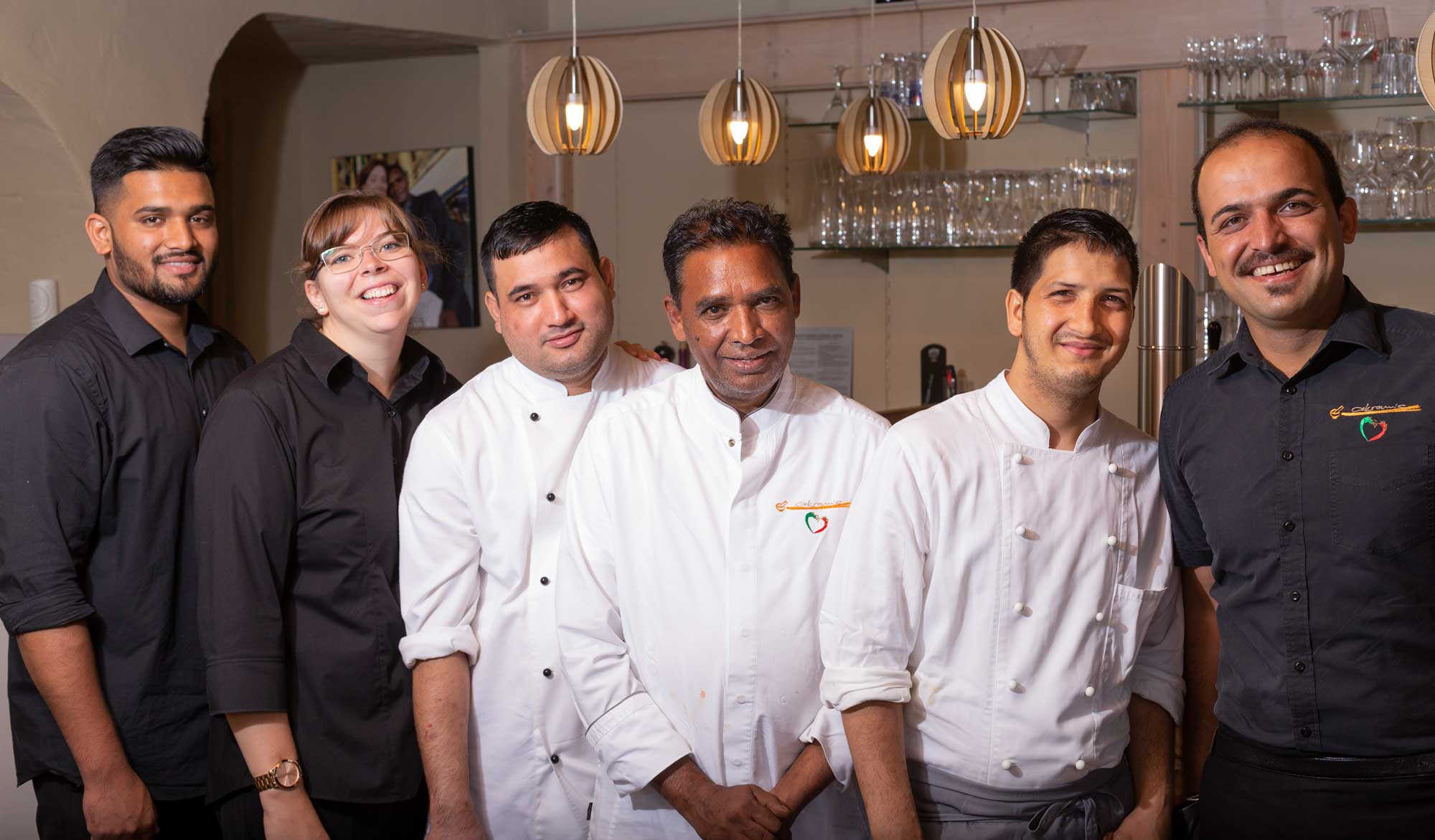 Akrams Restaurant Team Bild