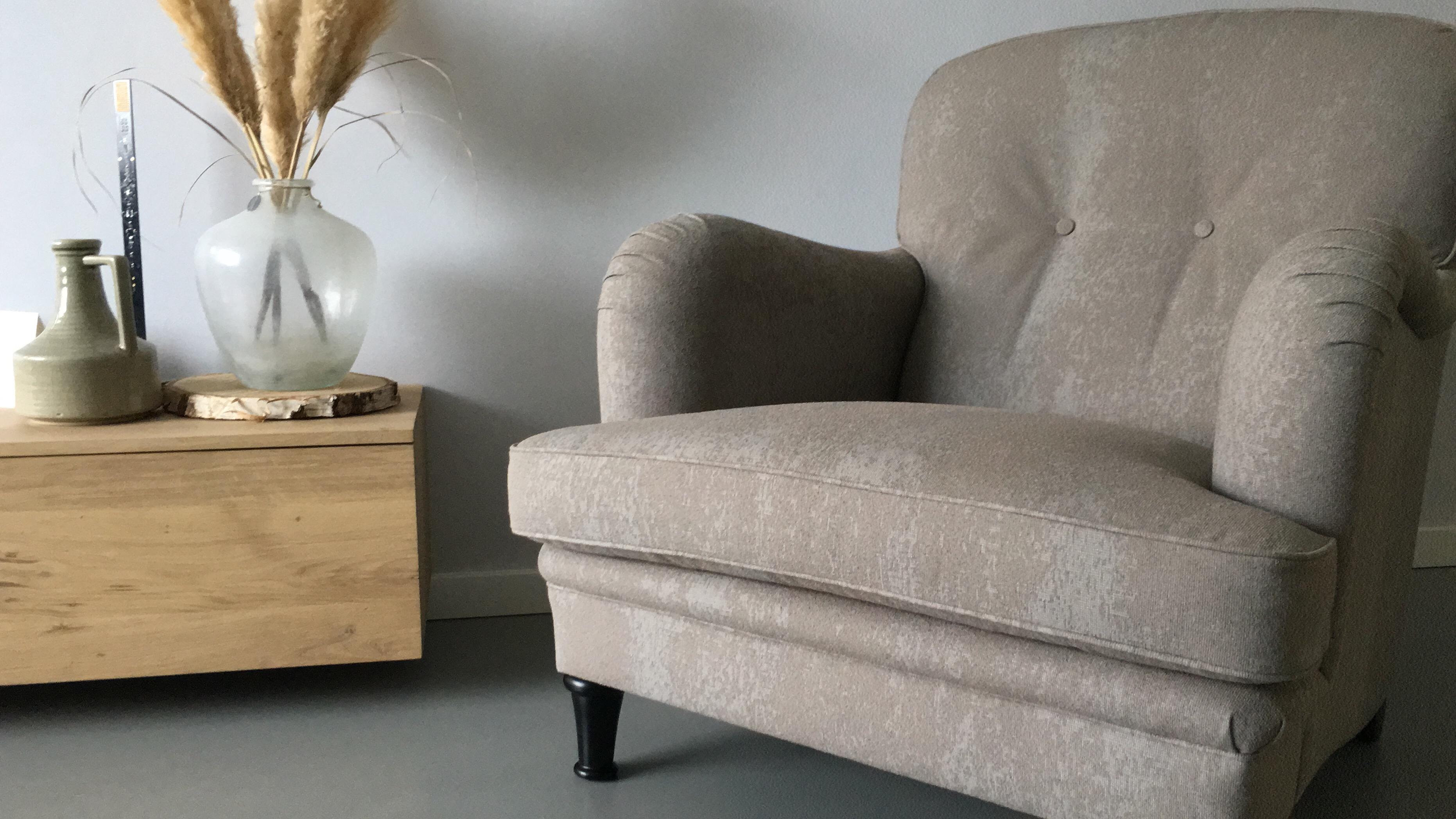 Prachtige gestoffeerde stoel