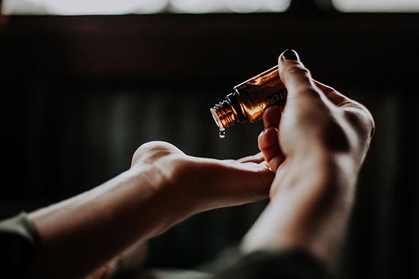 CBD oil in bottle medical cannabis not industrial hemp
