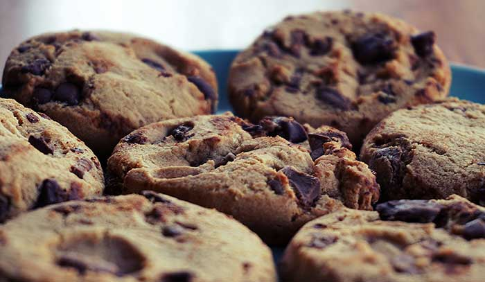 cannabis infused special cookies chocolate chip blue plate