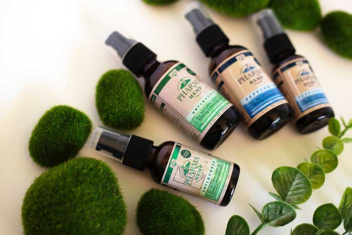 hemp oil spray bottles carrying oil essential oils concentrates