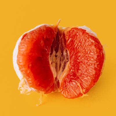 pink citrus representing a vulva