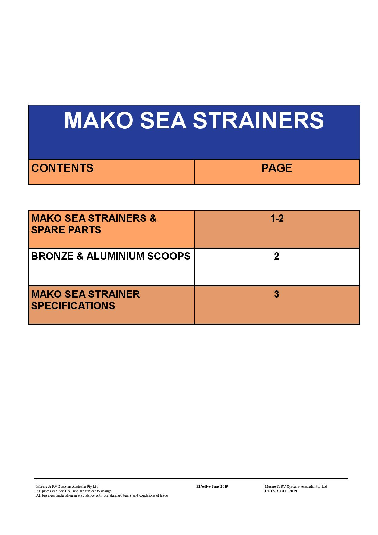 Section 6 Mako Sea Strainers June 2019